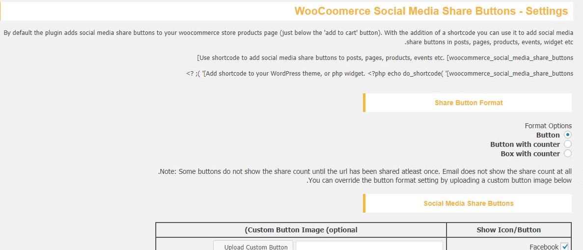 افزونه Woocommerce Social Media Share Buttons
