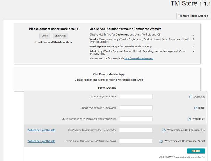 نصب و فعال سازی TM Store